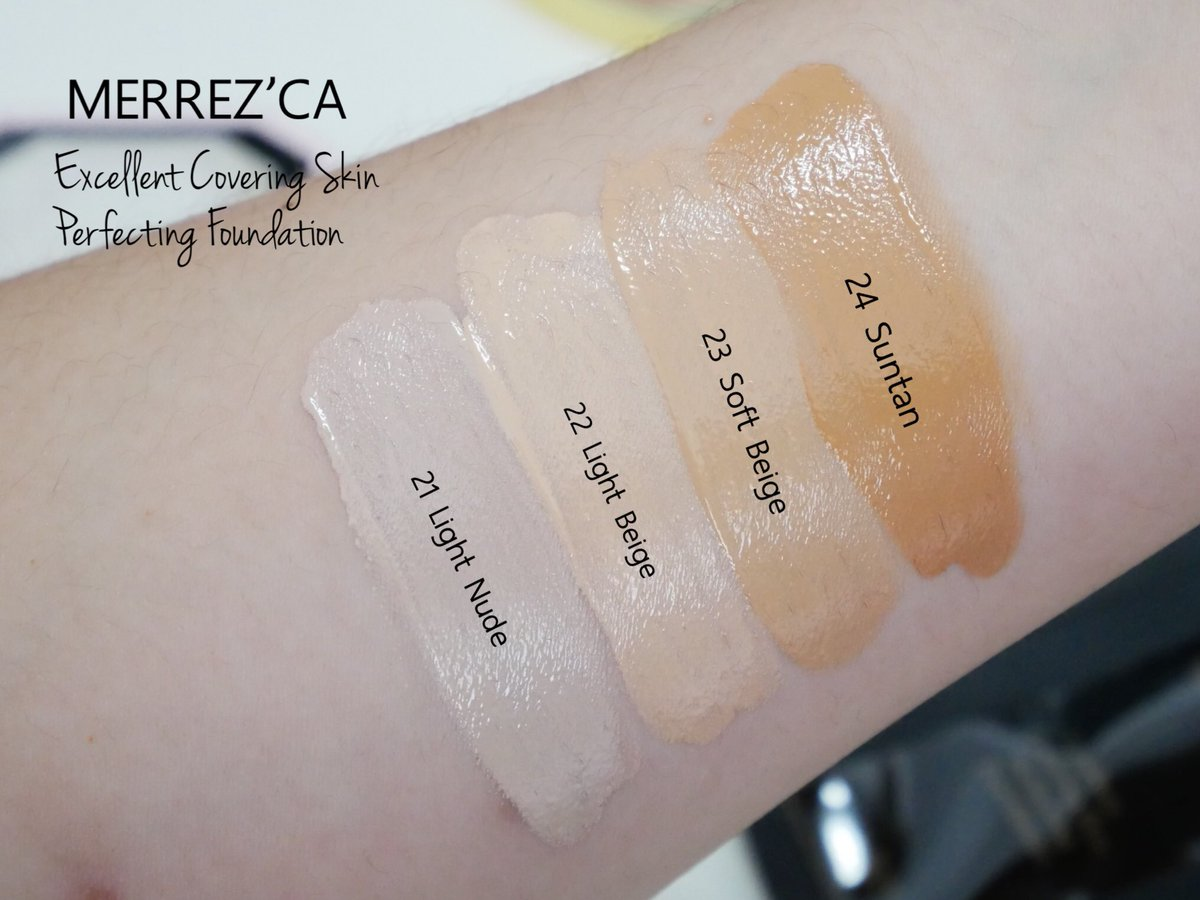 Merrez'Ca Excellent Covering Skin Perfecting Foundation SPF50